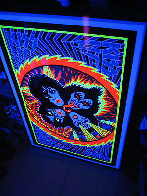SEALED KISS 1976 ROCK & ROLL OVER POSTER Lp BLACK LIGHT NOT AUCOIN ALBUM WOW NEW