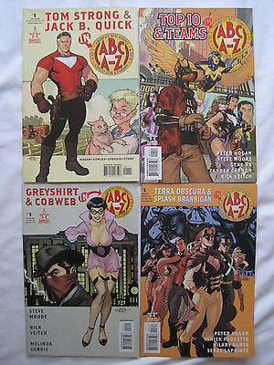 ABC COMICS A - Z : SET of 4 ONE-SHOTS featuring GREYSHIRT & COBWEB,TOM STRONG et