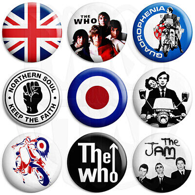 Mod Badges - Various Designs - 25mm Button Badge with Fridge Magnet Option