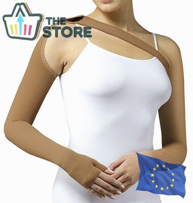 COMPRESSION ARM SLEEVE with a Shoulder Strap Swelling Support Lymphedema Edema