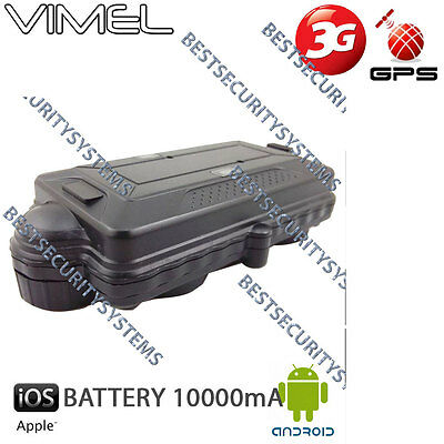 3G GPS Tracker Vimel Real Time Tracking Vehicle Car Yacht Boat Caravan 10000mAh
