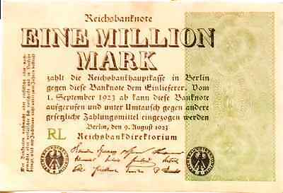 1923 Germany Weimar Republic 1.000.000 / 1 million Mark banknote