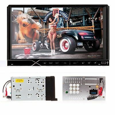 "Satellite Double 2DIN DVD Car Stereo Player Radio 7"" USB/SD IPOD Bluetooth GPS"
