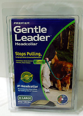 Premier Gentle Leader Headcollar for Dogs with DVD, X-Large (Fawn color) XL