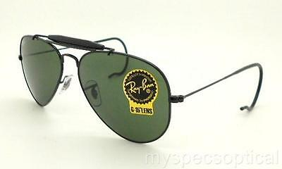 Ray Ban Sunglasses RB 3030 L9500 Black 58 G15 Outdoorsman New Authentic