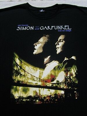 SIMON & GARFUNKEL old friends tour LARGE concert T-SHIRT
