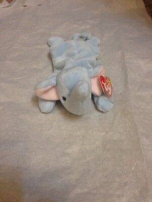 Peanut The Elephant Beanie Baby * Commemorative Case & Plastic Case!