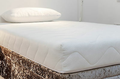 """Double Quilted Mattress Cover/Protector (10"""") - Fully Zipped Encasement"""