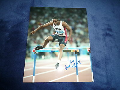 ANGELO TAYLOR signed Autogramm In Person 20x25 cm 3x OLYMPIA GOLD 400m Hürden