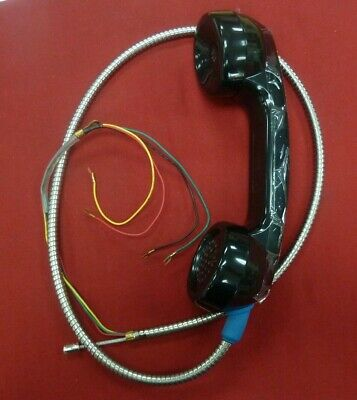 """New Payphone Handset 32"""" Lanyard Prison Inmate Phone Pay phone 4 color spade"""