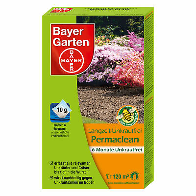 Bayer Long-Term Weed-Free Permaclean 120g Weed Killer Weed Quecke Plantain