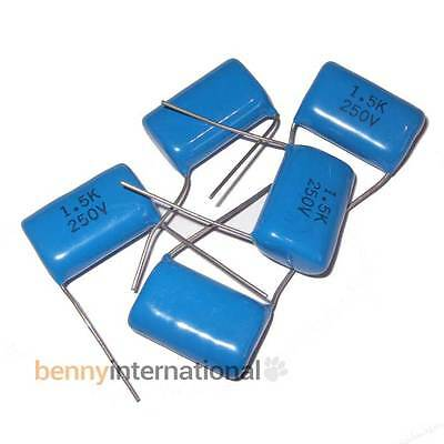 5x 1.5uF 250V CAPACITORS Polyester - AUS STOCK