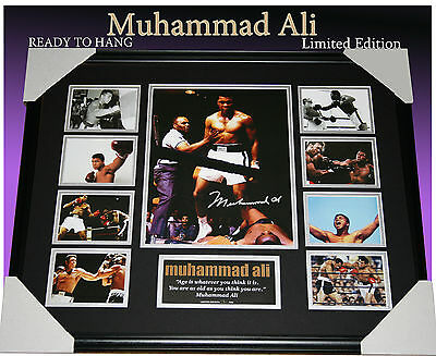Muhammad Ali The Greatest Boxing Champion Memorabilia Signed Frame Limited 499