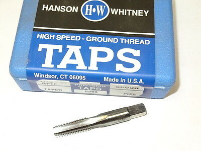 new HANSON WHITNEY 1/16-27 NPTF 4FL Taper HSS Pipe Tap 60005 USA