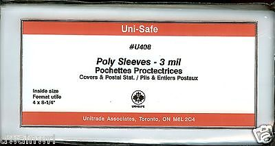 """Poly Cover Holders Fit 4"""" x 8-1/4"""" Covers, Pkg of 25 - Unisafe U408"""