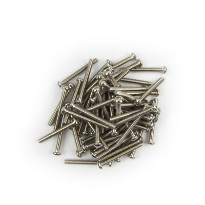30pcs Chrome Nickel Screws for Guitar Humbucker Pickup 3x26mm M561