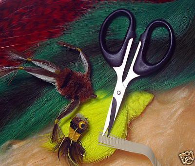 2 Fly Tying Scissors non serrated straight blade deerhair, bucktail and hackles