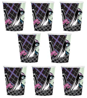 Lot of 8 Monster High 9oz Paper Cups ~Party Favor Supplies~