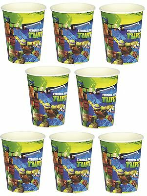 Lot of 8 Teenage Mutant Ninja Turtles  9oz Paper Cups ~Party Favor Supplies~