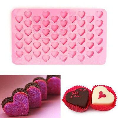 HOT 55 Lovely Cake Chocolate Mold Ice Heart Mini Frozen Baking Cube Cookies Soap