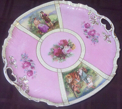 ANTIQUE Porcelain Tea Tray from Austria - early 20th Century