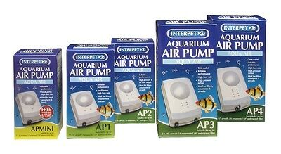 NEW Interpet WHOLE RANGE AP Mini AP1 AP2 AP3 Tropical Fish Tank Air Pump