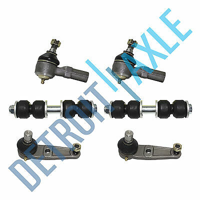 6PC Kit - Pair of 2 NEW Front Sway Bars + 2 Lower Ball Joints + 2 Outer Tie Rods