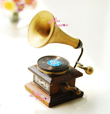 1:12 Dollhouse Miniature VINTAGE Classical Photograph Gramophone