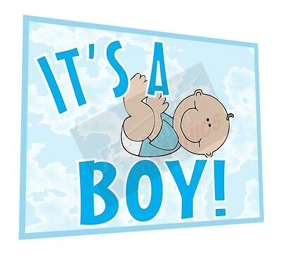 """Baby Shower Decoration - It's A Boy Yard Sign - Two Sided (18"""" x 24"""")"""