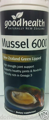 Good Health New Zealand Green Lipped Mussel 6000mg 100 Capsules DRP