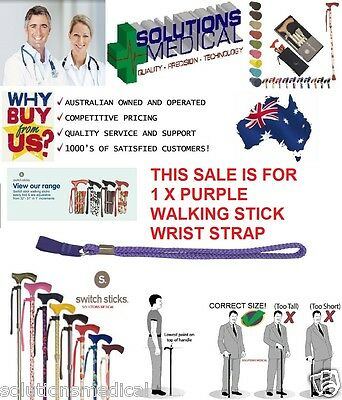 Walking Stick Cane Wrist Strap (X1) Purple Switch Sticks Quality Item