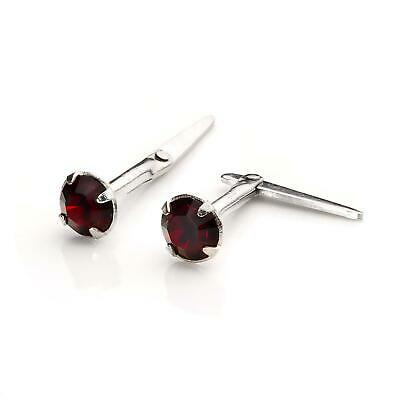 925 Sterling silver & 3mm CZ Crystal Andralok Stud Earrings / Studs