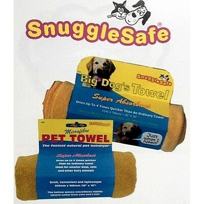 Snugglesafe Microfibre Towel, super absorbent, dog, cat, horse, swimming,2 sizes