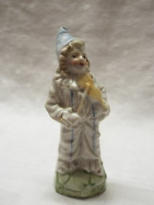Antique Victorian Pottery Figurine Violinist Violin Player Circa 1880