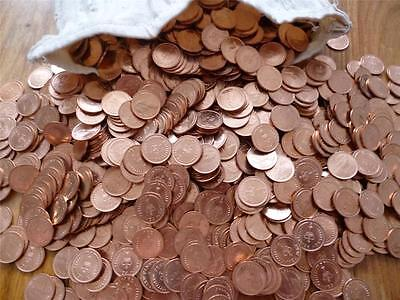 1974 Halfpence coins a bulk pack of 10 uncirculated halfpennies from Royal Mint.