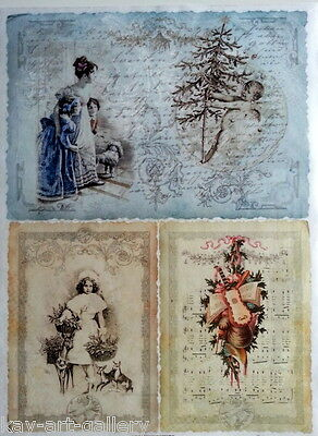 Rice Decoupage Paper / Christmas / Craft Paper / Decoupage Sheets / Scrapbooking