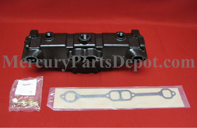 Mercruiser New OEM Exhaust Manifold & Gasket 865735A02 Dry Joint 305/350/5.7/6.2
