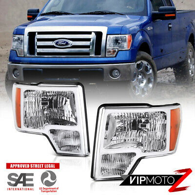 2009 2010 2011 2012 2013 2014 Ford F150 Factory Style Headlights Headlamps PAIR
