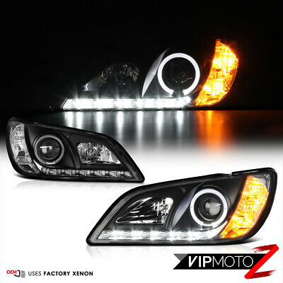 [JDM SPEC] For 2001-05 Lexus IS200 IS300 2JZ Black LED Halo Projector Headlights