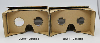 Amazing Cardboard, google cardboard with 30mm K9 lenses with NFC Tag