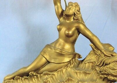 ANTIQUE VILLANIS GILT NUDE ART DECO TABLE LAMP 19th C. - Priced for prompt sale