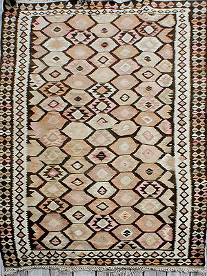 Flat-woven, reversible Persian kilim dating from 1910/20s - Exc/VG condition