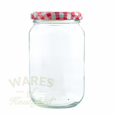 1lb (370ml) GLASS JAM JARS WITH LIDS x 12,24,36,56,100,192 FREE COURIER DELIVERY