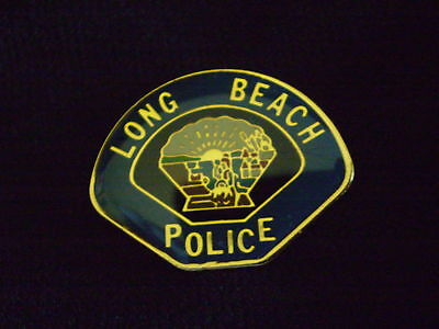 LONG  BEACH  POLICE  PATCH  MINI-BADGE / LAPEL PIN