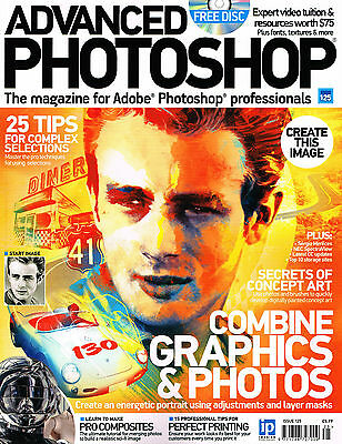 ADVANCED PHOTOSHOP #125 Combine Graphics & Photos PERFECT PRINTING @New@ + CD