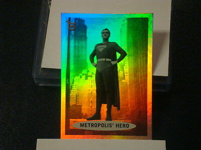 """2013 TOPPS 75TH ANNIVERSARY """"SUPERMAN"""" RAINBOW FOIL PARALLEL CARD #45"""