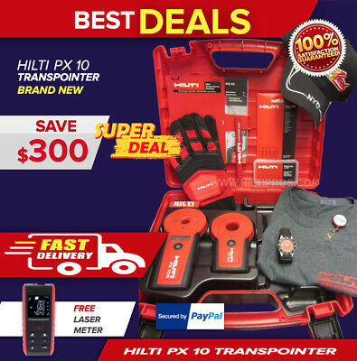 Hilti Px 10 Transpointer,New,Free Watch,Gloves,Shirt,Hat,Pencil,L@@K,Fast Ship