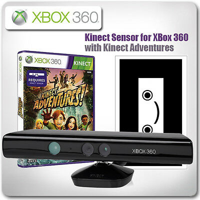 XBox 360: Kinect Sensor with Kinect Adventures *in Great Condition*
