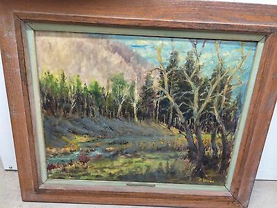 Antique Oil Landscape Painting.Signed By T.R.Greene.20x16