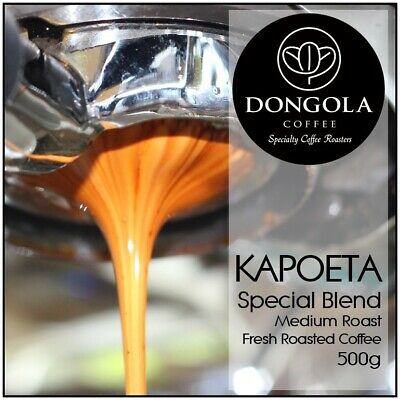 490g DONGOLA KAPOETA Fresh Roasted Coffee Beans Special Blend Whole Bean Ground • AUD 18.95